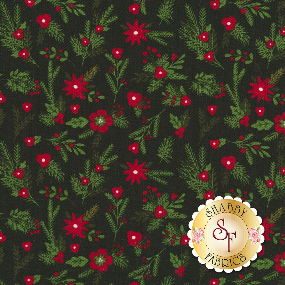 Christmas Delivery C7332-BLACK for Riley Blake Designs