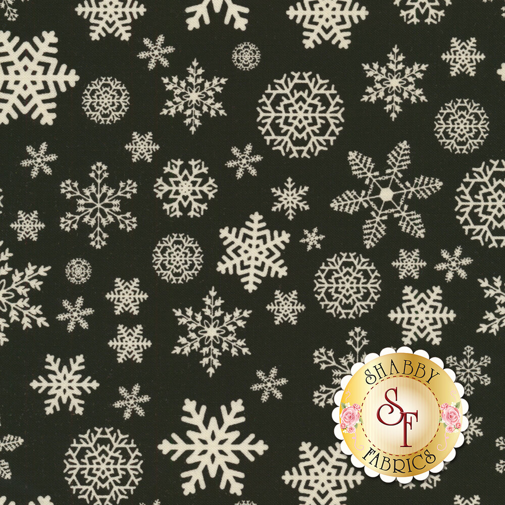 Christmas Delivery C7333-BLACK for Riley Blake Designs