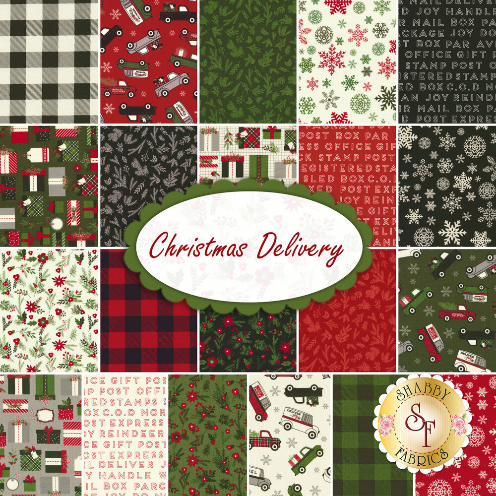 "Christmas Delivery  5"" Stacker by Riley Blake Designs"