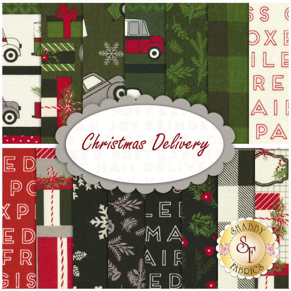 Christmas Delivery  15 FQ Set for Riley Blake Designs
