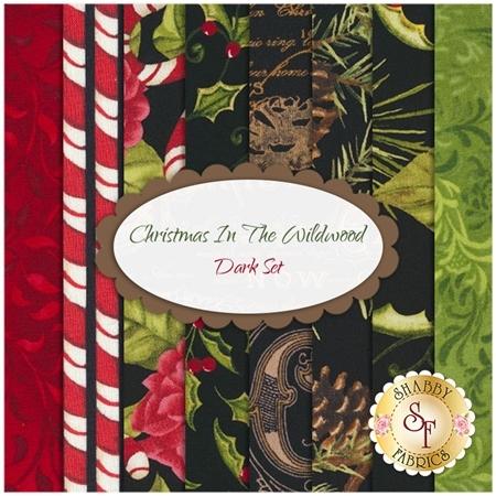Christmas In The Wildwood  8 FQ Set - Dark Set by Wilmington Prints
