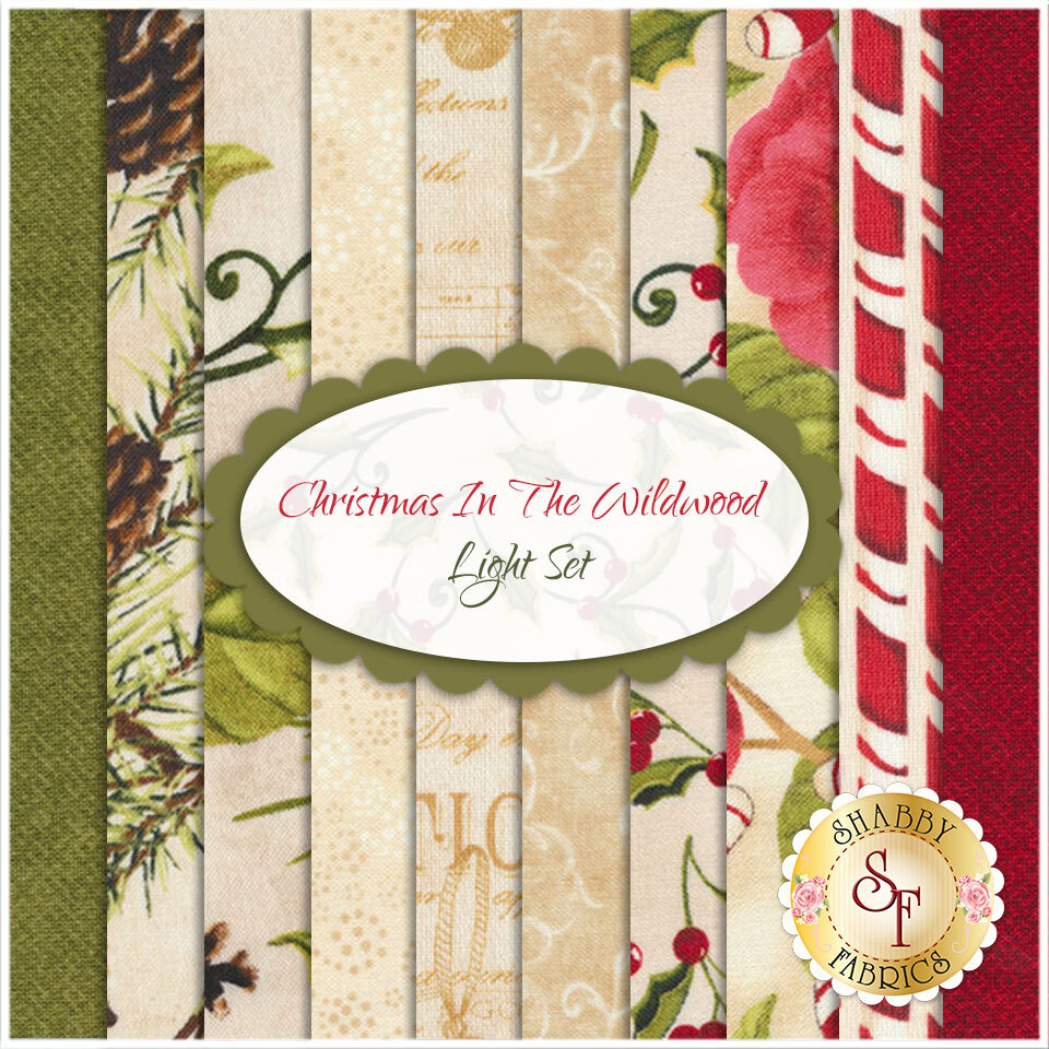 Christmas In The Wildwood  10 FQ Set - Light Set by Nancy Minks for Wilmington Prints