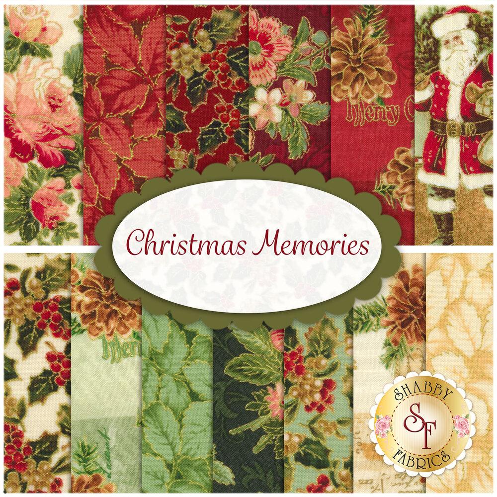 Christmas Memories  13 FQ Set for Washington Street Studio