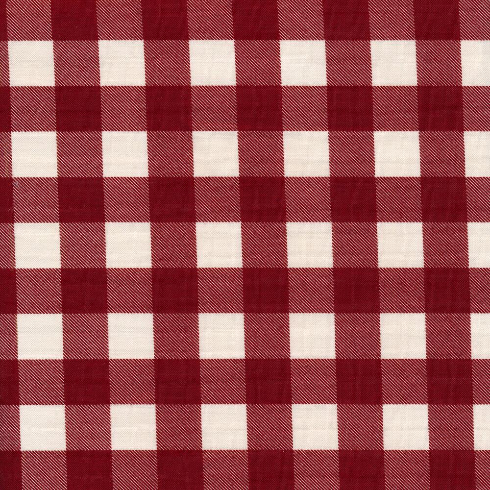 Red and white plaid | Shabby Fabrics