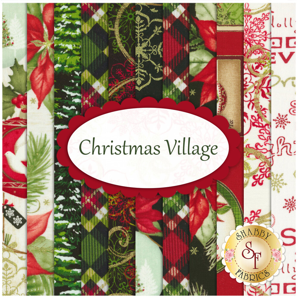 Christmas Village  11 FQ Set for Studio E Fabrics