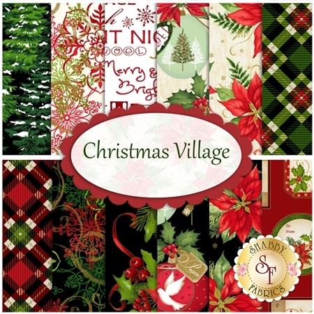 Christmas Village  12 FQ Set by Studio E Fabrics
