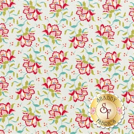 Circus 481324 Clown Flower Linen by Tone Finnanger for Tilda