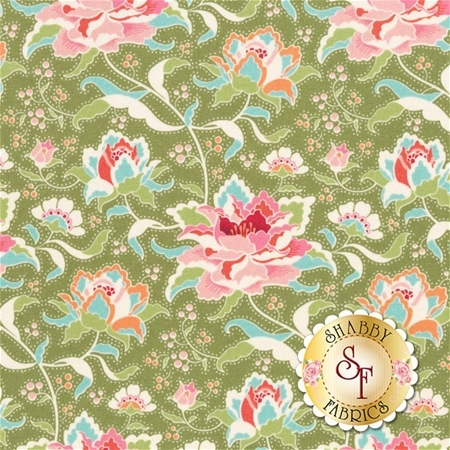 Circus 481330 Circus Rose Green by Tone Finnanger for Tilda