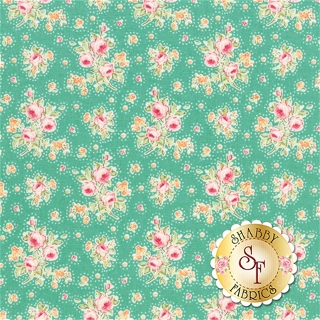 Circus 481333 First Kiss Teal by Tone Finnanger for Tilda