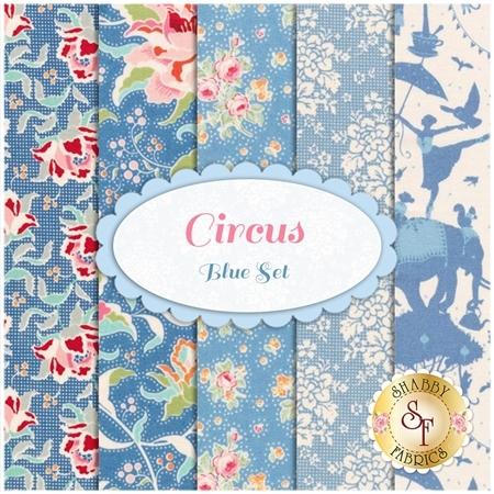 Circus  5 FQ Set - Blue Set by Tone Finnanger for Tilda