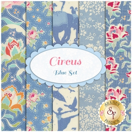 Circus  5 FQ Set - Blue Set by Tilda