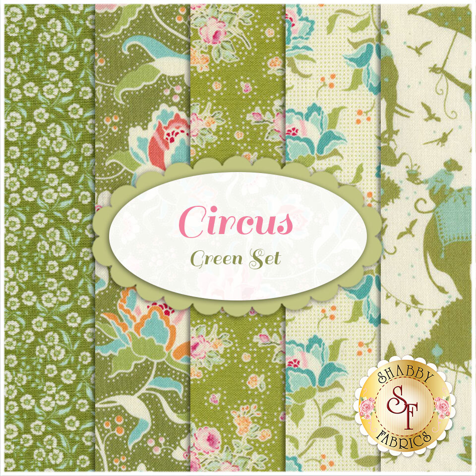Circus  5 FQ Set - Green Set by Tone Finnanger for Tilda