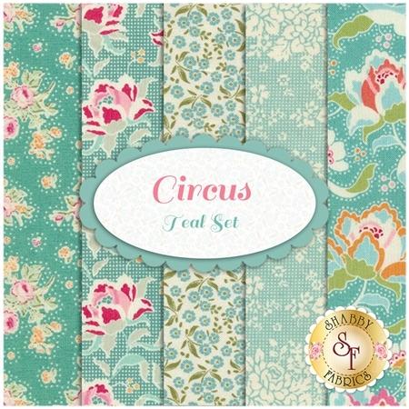 Circus  5 FQ Set - Teal Set by Tilda