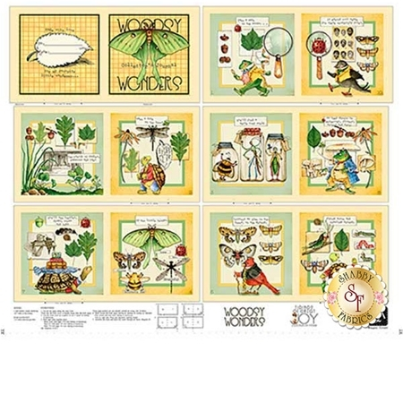 Classic Storybooks 24780-X Woodsy Wonders Book Panel by Quilting Treasures