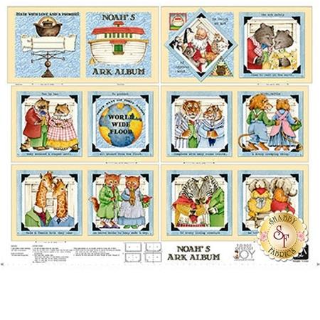 Classic Storybooks 24782-X Noah's Ark Album Book Panel by Quilting Treasures