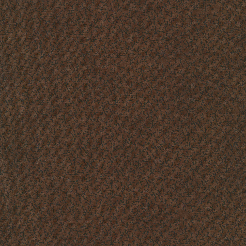 Tonal berries with vines all over brown | Shabby Fabrics