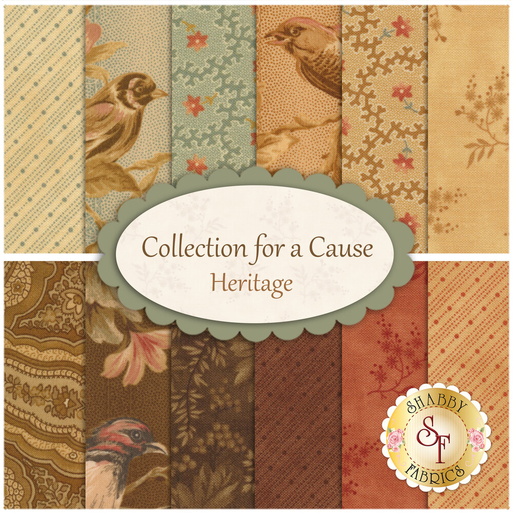 Collection for a Cause - Heritage  12 FQ Set for Moda Fabrics