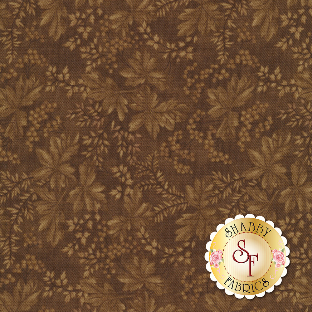 Collection for a Cause - Heritage 46002-26 Floral Leaves Berries Brown for Moda Fabrics
