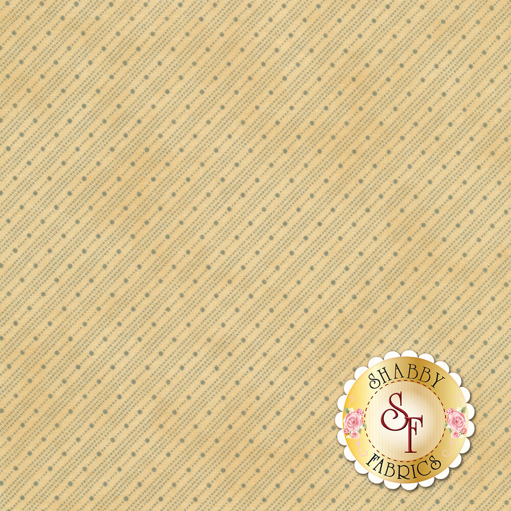 Collection for a Cause - Heritage 46009-12 Floral Bias Stripe Natural for Moda Fabrics