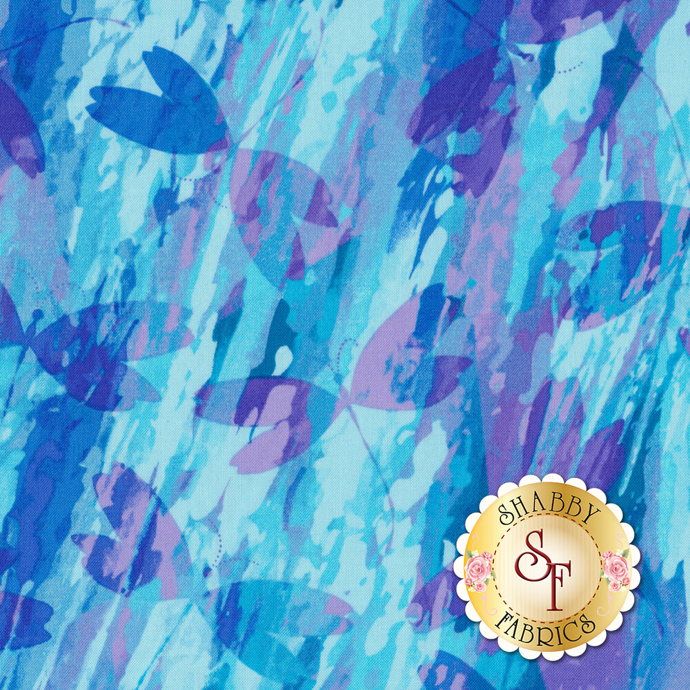 Color Calypso C8833-56 Calypso Dragonfly Blue/Purple by Benartex Fabrics