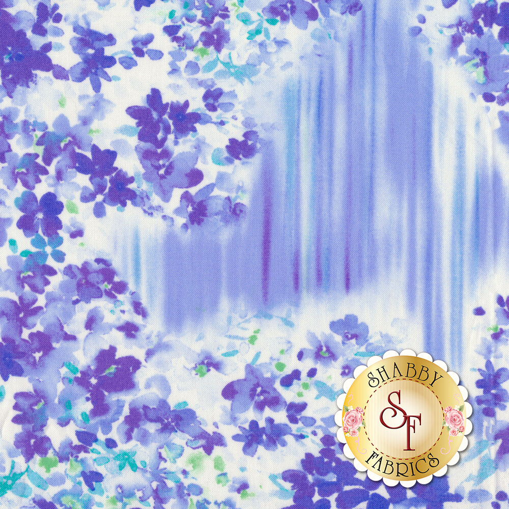 Color Calypso C8838-50 Calypso Garden Blue by Benartex Fabrics