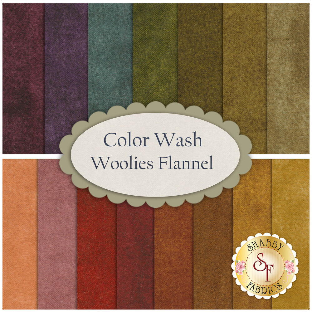 Color Wash Woolies Flannel  20 FQ Set for Maywood Studio Fabrics