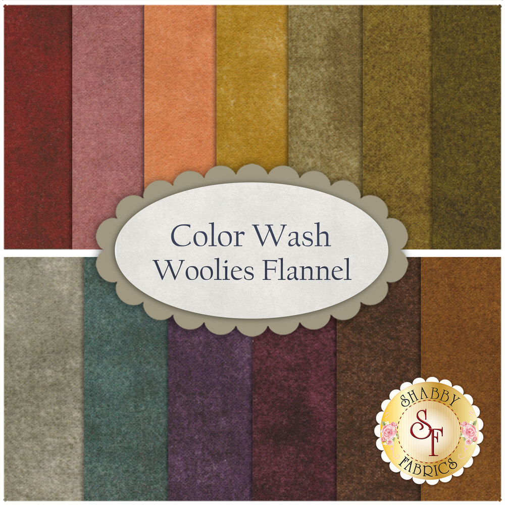 Color Wash Woolies Flannel  13 FQ Set for Maywood Studio Fabrics