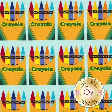 Colorfully Creative C5402-BLUE by Crayola for Riley Blake Designs