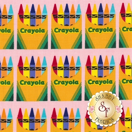 Colorfully Creative C5402-PINK by Crayola for Riley Blake Designs