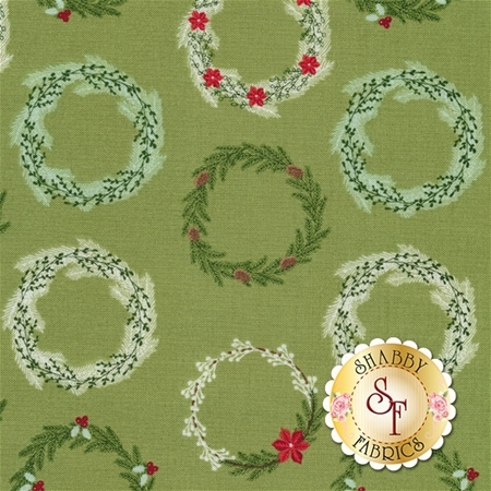 Comfort And Joy C6263-GREEN by Riley Blake Designs