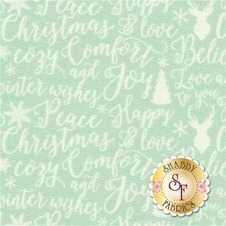 Comfort And Joy C6264-LTGREEN by Riley Blake Designs