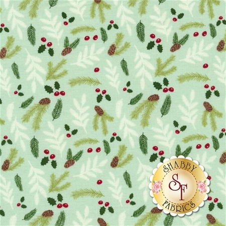 Comfort And Joy C6266-LTGREEN by Riley Blake Designs