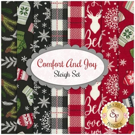 Comfort And Joy  8 FQ Set - Sleigh Set by Dani Mogstad for Riley Blake Designs