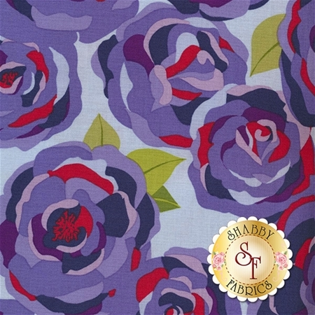 Coming Up Roses C6270-BLUE by Jill Finley for Penny Rose Fabrics