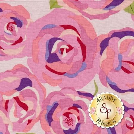 Coming Up Roses C6270-PINK by Jill Finley for Penny Rose Fabrics