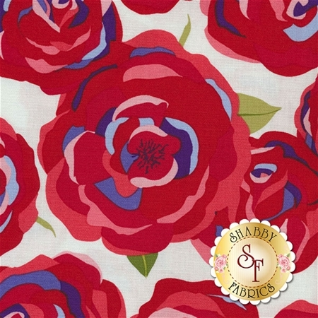 Coming Up Roses C6270-RED by Jill Finley for Penny Rose Fabrics