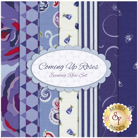 Coming Up Roses  7 FQ Set - Evening Rose Set by Penny Rose Fabrics