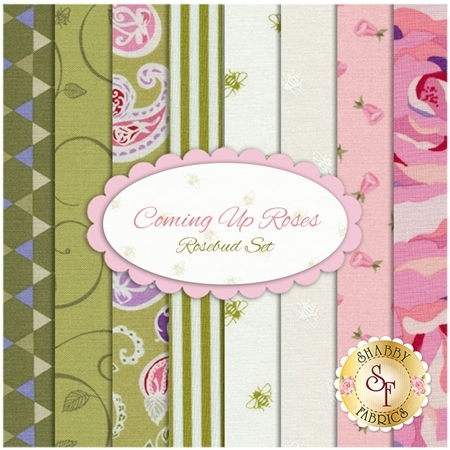 Coming Up Roses  8 FQ Set - Rosebud Set by Penny Rose Fabrics