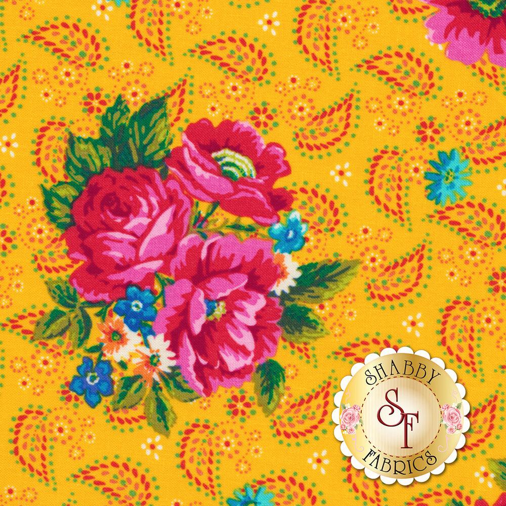 Confettis PWOB-BLUEX by Freespirit Fabrics available at Shabby Fabrics