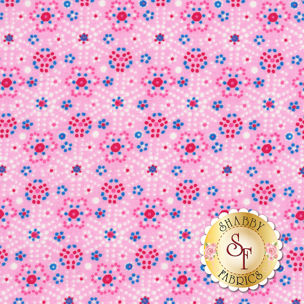 Confettis PWOB-BLUEX by Freespirit Fabrics available at Shabby Fabrics