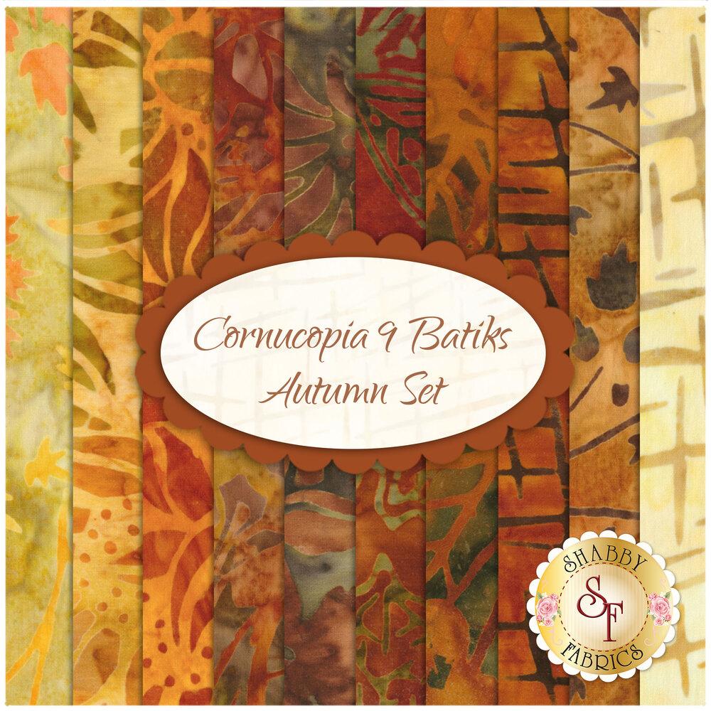 Cornucopia 9 Batiks  10 FQ Set - Autumn Set for Robert Kaufman Fabrics