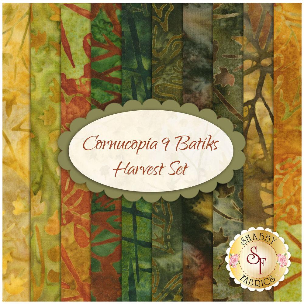 Cornucopia 9 Batiks  10 FQ Set - Harvest Set for Robert Kaufman Fabrics