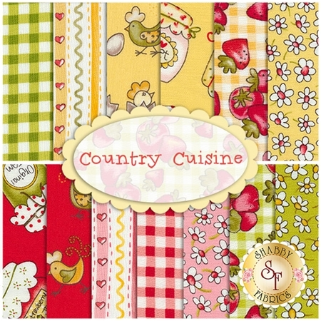 Country Cuisine  13 FQ Set by Henry Glass Fabrics