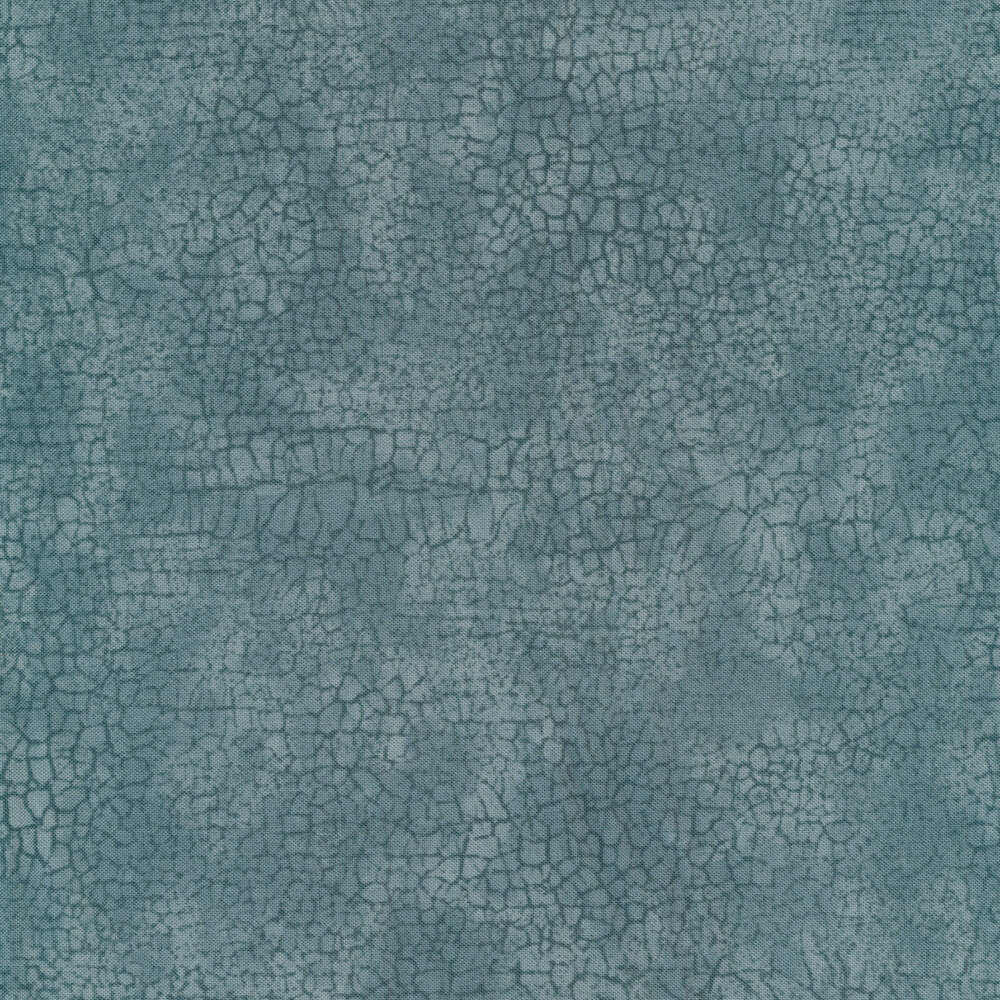 Dark teal cracks all over a mottled light teal background | Shabby Fabrics