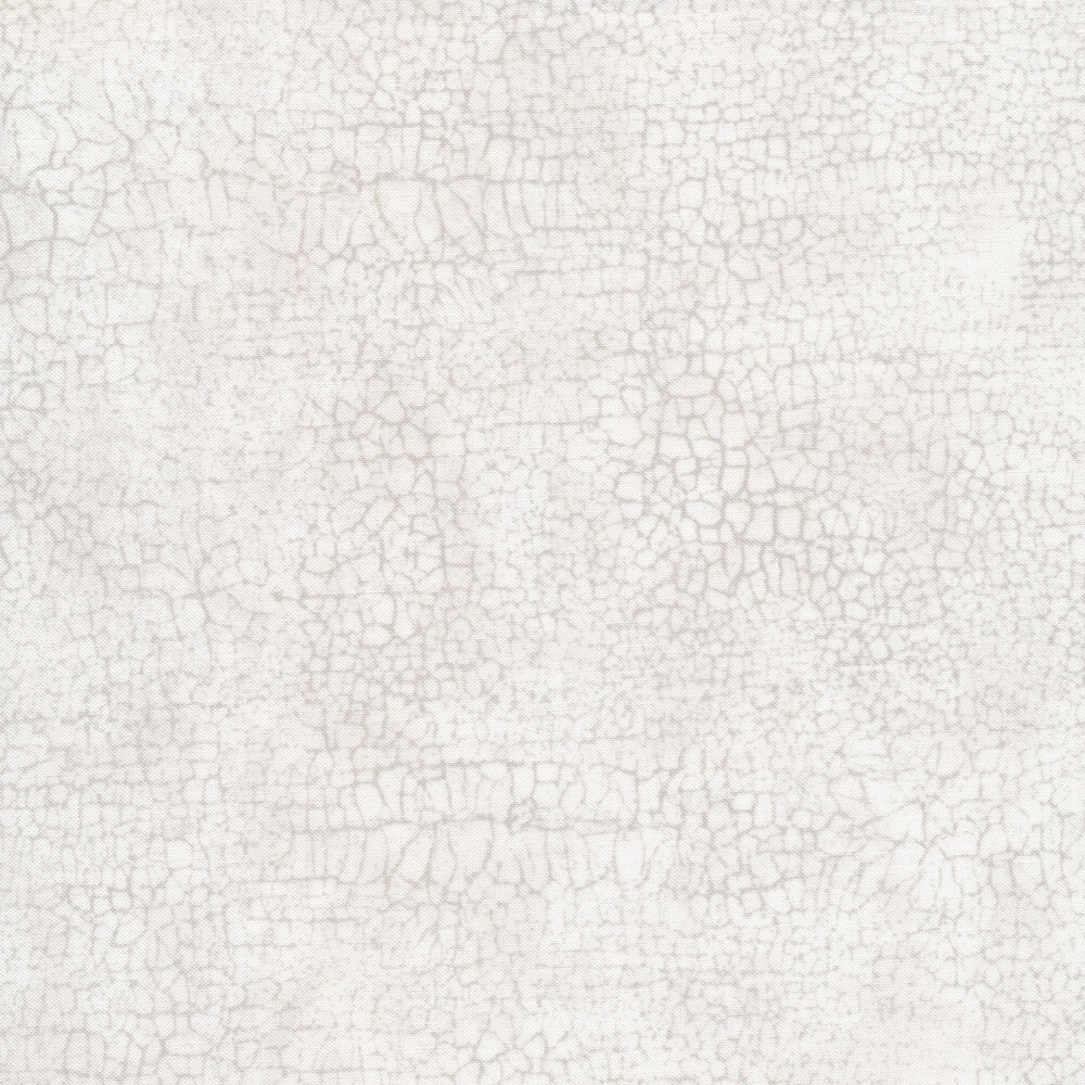 Light grey cracks all over a white background | Shabby Fabrics