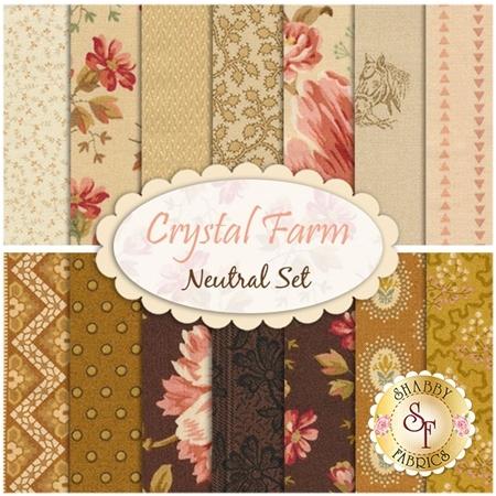 Crystal Farm  14 FQ Set - Neutral Set by Edyta Sitar for Andover Fabrics