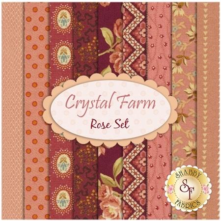 Crystal Farm  9 FQ Set - Rose Set by Edyta Sitar for Andover Fabrics