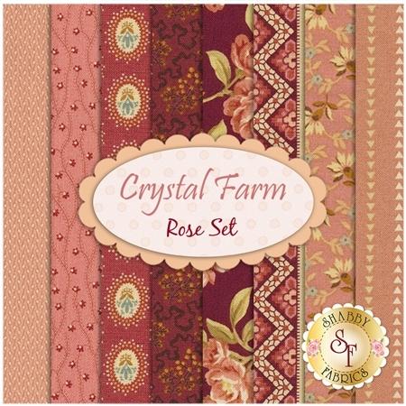 Crystal Farm  8 FQ Set - Rose Set by Edyta Sitar for Andover Fabrics