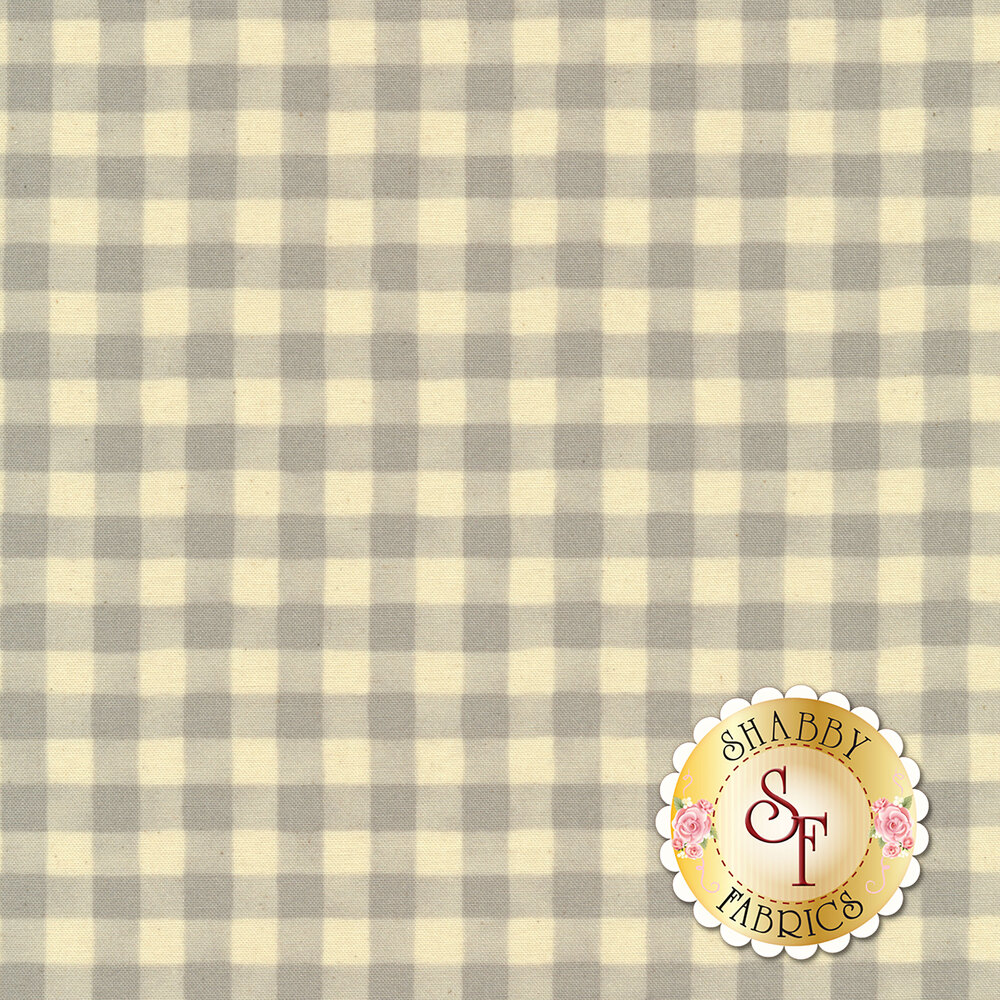 Simple grey and white gingham fabric | Shabby Fabrics
