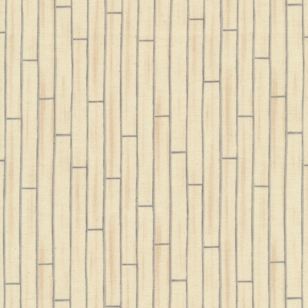 Tan shiplap print fabric | Shabby Fabrics